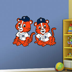 Detroit Tigers Baby Mascot Fathead Wall Decal